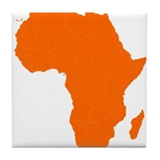 Continent of Africa Tile Coaster