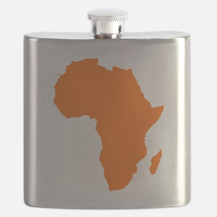 Continent of Africa Flask