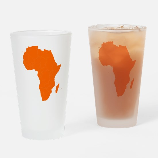 Continent of Africa Drinking Glass
