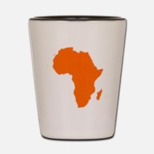 Continent of Africa Shot Glass