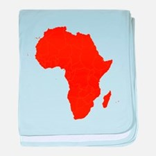 Continent of Africa baby blanket