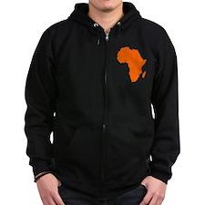 Continent of Africa Zip Hoodie
