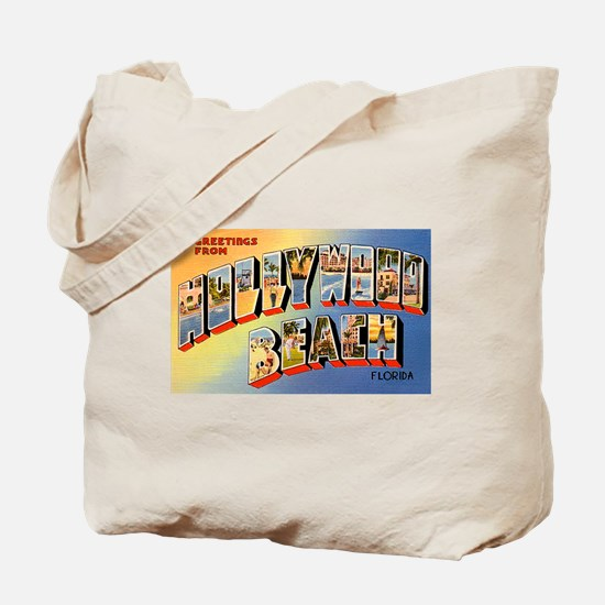 Hollywood Beach Florida Greetings Tote Bag
