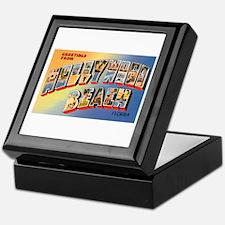 Hollywood Beach Florida Greetings Keepsake Box