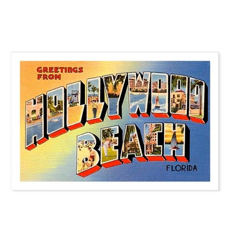 Hollywood Beach Florida Greetings Postcards (Packa