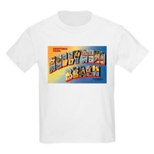 Hollywood Beach Florida (Front) Kids T-Shirt