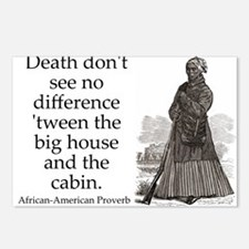 Death Dont See No Difference Postcards (Package of