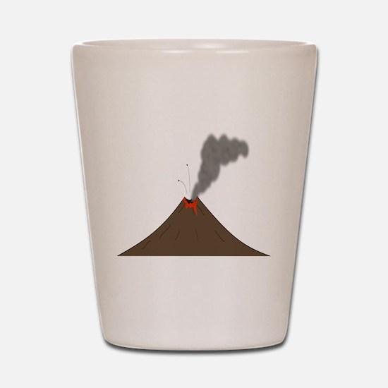 Erupting Volcano Shot Glass