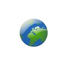 Glossy Globe of Earth Mini Button (10 pack)