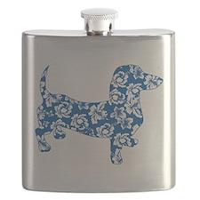 Hawaiian Dachshund Doxie Flask