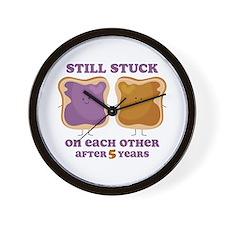 PBJ 5th Anniversary Wall Clock