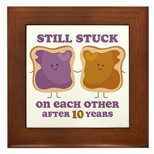 PBJ 10th Anniversary Framed Tile