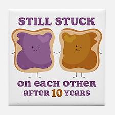 PBJ 10th Anniversary Tile Coaster
