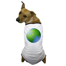 Globe of Earth Dog T-Shirt