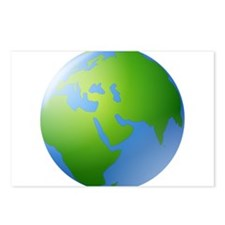 Globe of Earth Postcards (Package of 8)