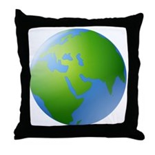 Globe of Earth Throw Pillow
