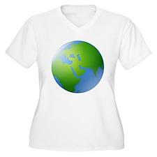 Globe of Earth Plus Size T-Shirt