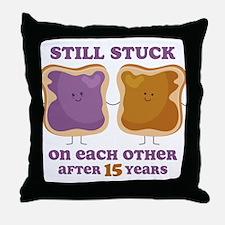 PBJ 15th Anniversary Throw Pillow