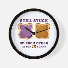 PBJ 15th Anniversary Wall Clock