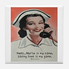 Nurse is my Name Tile Coaster