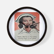 Nurse is my Name Wall Clock