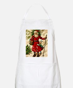 Vintage Russian Christmas Card Apron