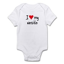 I LOVE MY Westie Infant Bodysuit
