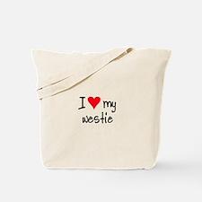 I LOVE MY Westie Tote Bag