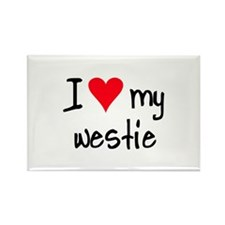 I LOVE MY Westie Rectangle Magnet