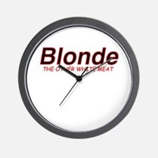 Blonde Other White Meat Wall Clock