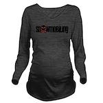 Snowmobile Skull Long Sleeve Maternity T-Shirt