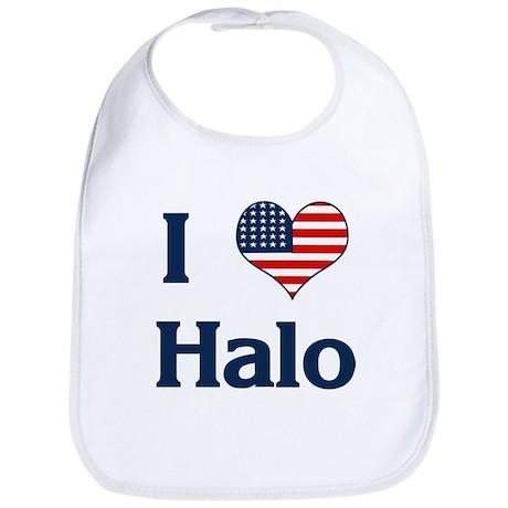 I Love Halo Bib