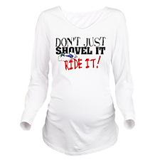 Cute Polaris snowmobile Long Sleeve Maternity T-Shirt