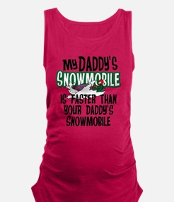 Daddy's Snowmobile Maternity Tank Top