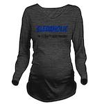 Sledaholic Long Sleeve Maternity T-Shirt