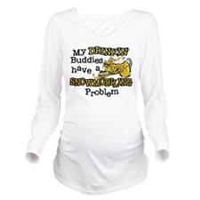 DRINKING.png Long Sleeve Maternity T-Shirt