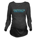 Snowgasm Long Sleeve Maternity T-Shirt