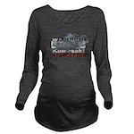 warning23.png Long Sleeve Maternity T-Shirt