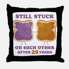 PBJ 25th Anniversary Throw Pillow