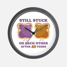 PBJ 40th Anniversary Wall Clock