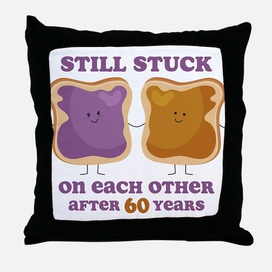 PBJ 60th Anniversary Throw Pillow