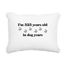 75 dog years 3-1 Rectangular Canvas Pillow