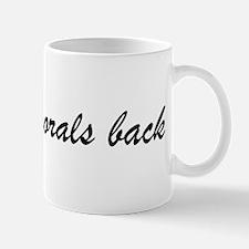 Bringing Morals Back (black) Small Mugs