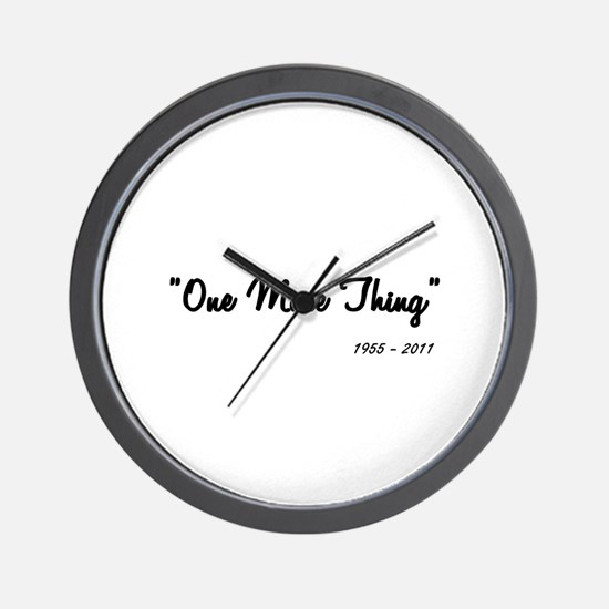 One More Thing Wall Clock