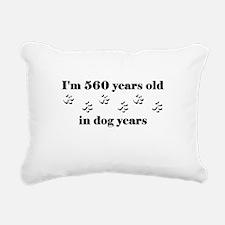 80 dog years 3-1 Rectangular Canvas Pillow