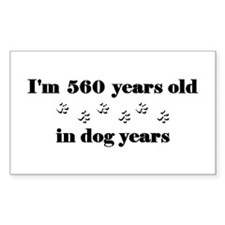 80 dog years 3-2 Decal