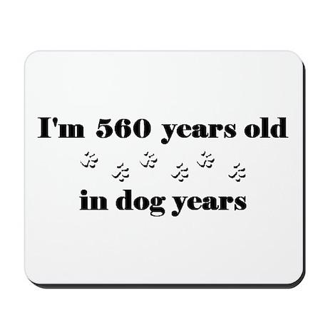 80 dog years 3-2 Mousepad