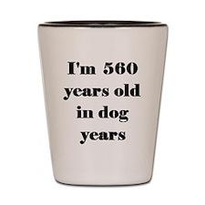 80 dog years 3-3 Shot Glass