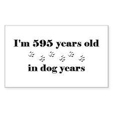 85 dog years 3-2 Decal