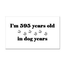 85 dog years 3-2 Rectangle Car Magnet
